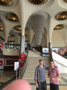 Thai Art-deco theater in a mall with Dhami Boo.