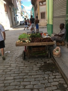 Veggie vendor smoking